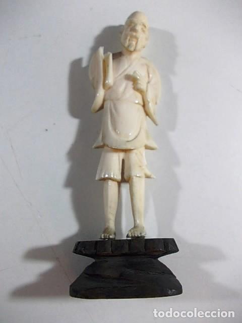 Arte: ANTIGUA FIGURA JAPONESA MASCULINA EN MARFIL - Foto 2 - 104271459