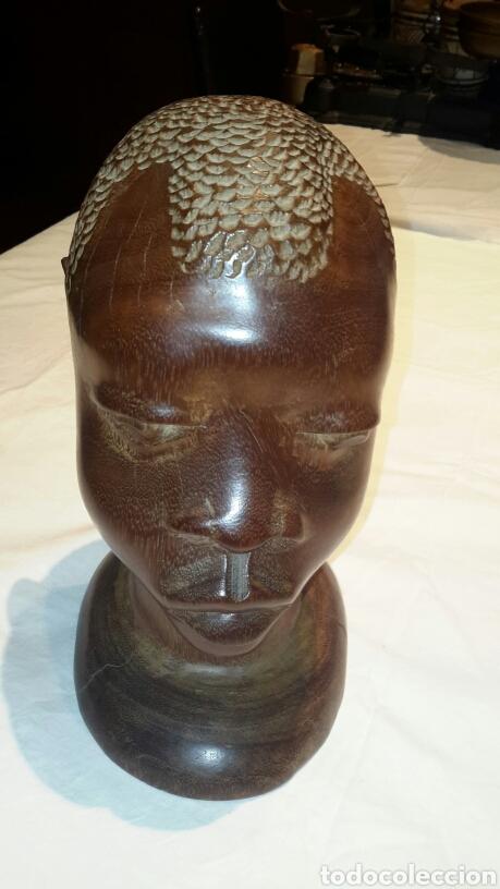 Arte: Escultura busto madera - Foto 2 - 104588256