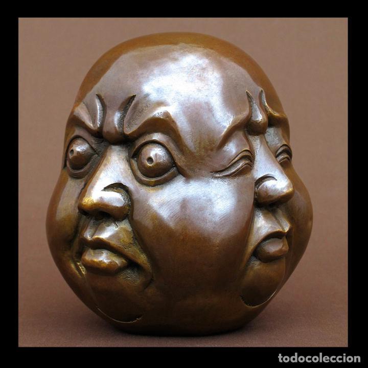 Arte: Cabeza 4 caras de Buda 15cm de alto - Foto 2 - 194547987