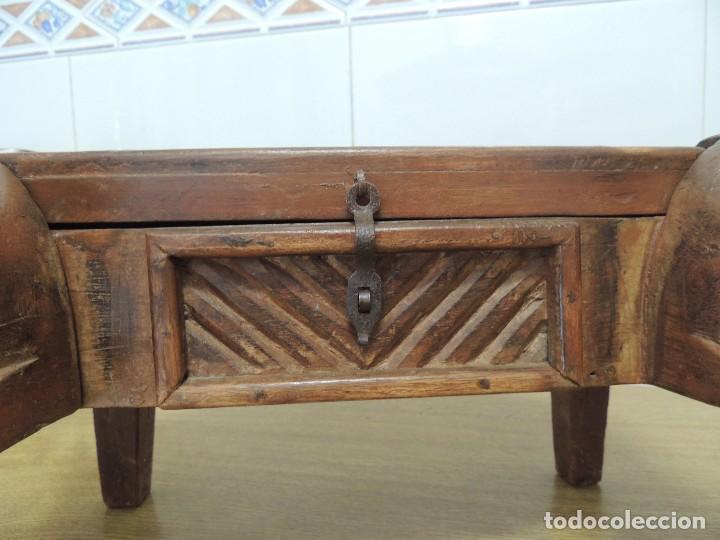 Arte: cofre madera tallado S XIX Unico - Foto 5 - 104877503
