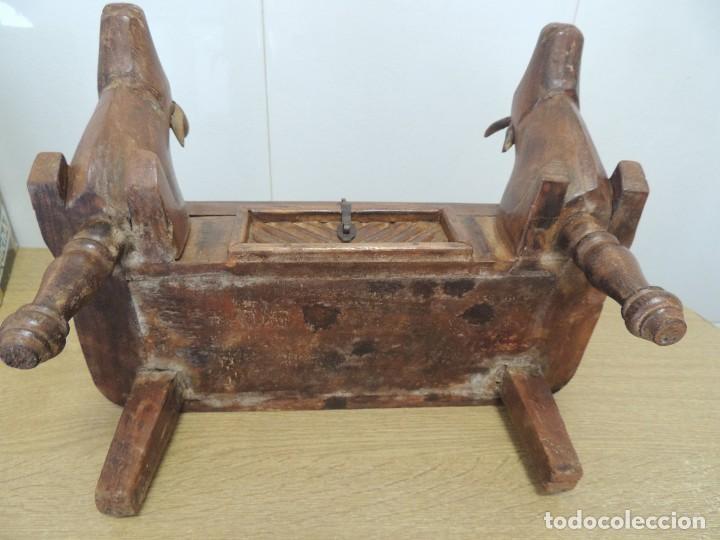 Arte: cofre madera tallado S XIX Unico - Foto 8 - 104877503