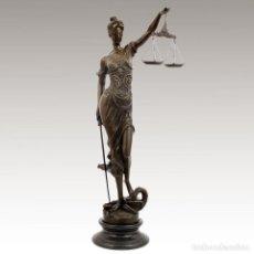 Arte: FIGURA DE BRONCE. JUSTICIA CON BALANZA 100CM (TEMIS). Lote 104872146