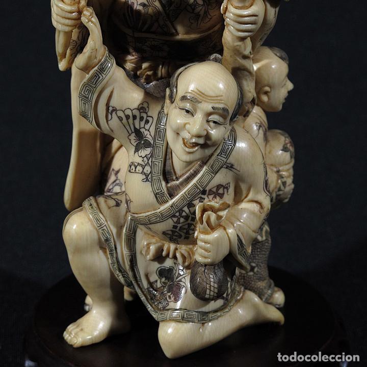 Arte: Talla de Marfil Hombre y mujer con niños (CITES nº nc1125/07) - Foto 8 - 105247251