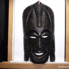Arte: ROSTRO TALLADO EN MADERA.. Lote 165543932