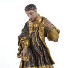 Arte: SANTO CON NIÑO EN MADERA POLICROMADA POSIBLEMENTE COLONIAL SIGLO XVIII. Lote 105995191