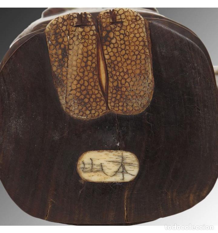 Arte: Artesanales Japoneses Zen pareja 33cm con madera y Hueso Tallado de Vaca o Búfalo de agua - Foto 4 - 106024319