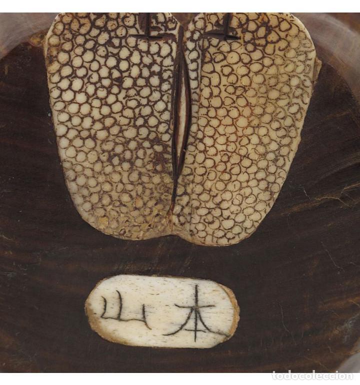 Arte: Artesanales Japoneses Zen pareja 33cm con madera y Hueso Tallado de Vaca o Búfalo de agua - Foto 5 - 106024319