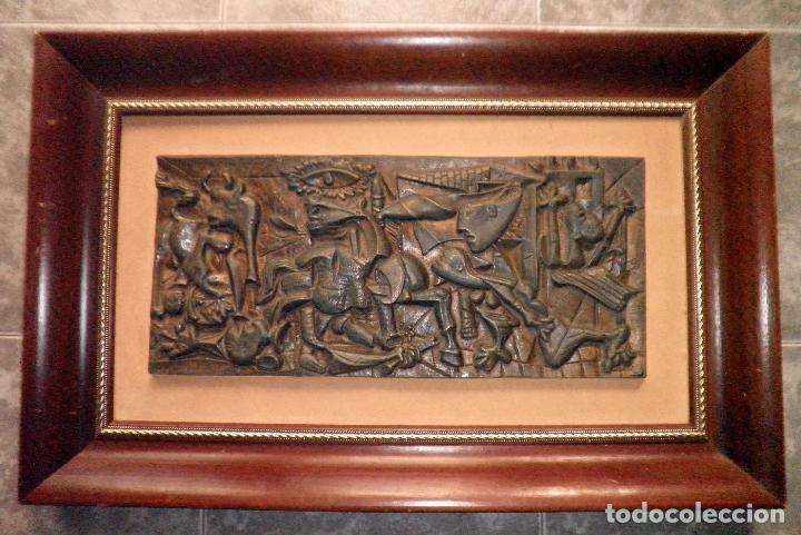 EL GUERNICA - PICASSO - PLAFON EN BRONCE - EXCEPCIONAL. (Arte - Escultura - Bronce)