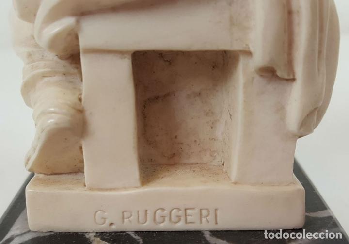 Arte: CONJUNTO DE 3 ESCULTURAS. RESINA ITALIANA. G. RUGGERI. ITALIA. CIRCA 1970. - Foto 4 - 106041627