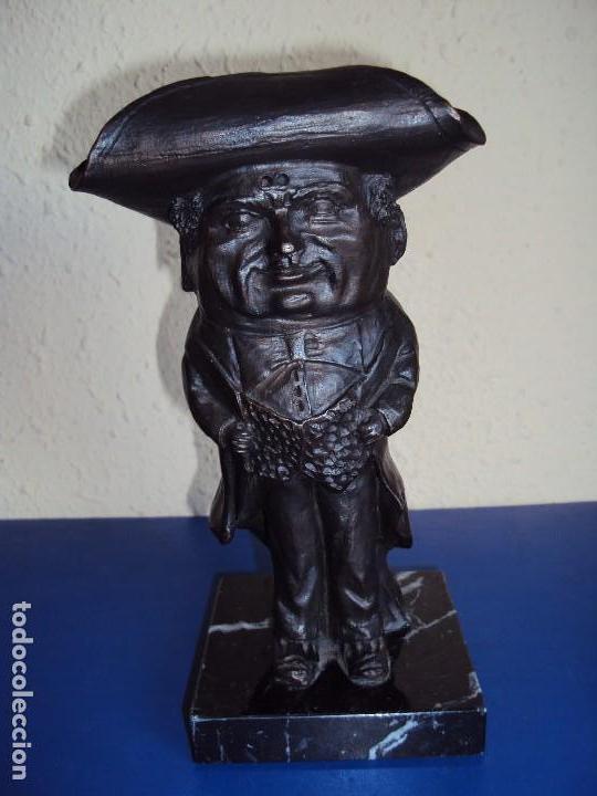 (ANT-171293)FIGURA DE BRONCE CABEZUDO - CAPGROSS DE MANRESA - SERIE LIMITADA (Arte - Escultura - Bronce)