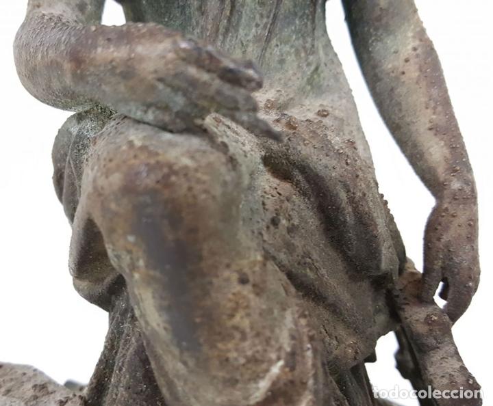 Arte: ALEGORÍAS A LA INDUSTRIA Y A LAS CIENCIAS. ESCULTURAS DE METAL. SIGLO XX. - Foto 4 - 107090639