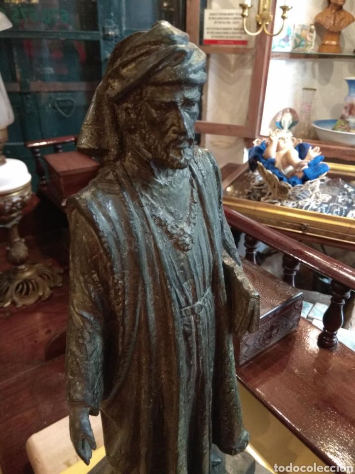 Arte: Escultura de Bronce Francesc de Vinatea - Escultor Manolo Rodríguez - Valencia - Foto 4 - 108002818