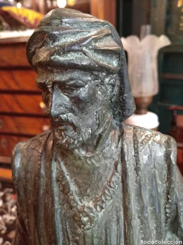 Arte: Escultura de Bronce Francesc de Vinatea - Escultor Manolo Rodríguez - Valencia - Foto 9 - 108002818