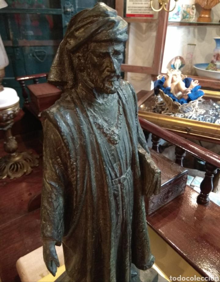 Arte: Escultura de Bronce Francesc de Vinatea - Escultor Manolo Rodríguez - Valencia - Foto 12 - 108002818
