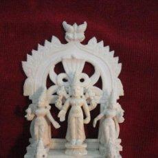 Arte: ALTAR INDU CON DEIDAD MARFIL (CERTIFICADO GAC). Lote 108864427