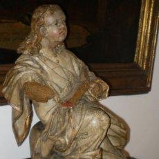 Arte: TALLA DEL SIGLO XVI - XVII. SAN JUAN EVANGELISTA.. Lote 109436951