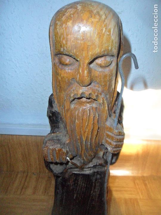 APOSTOL SANTO MONJE - ESTATUA TALLA DE MADERA - LEER DESCRIPCION... (Arte - Escultura - Madera)