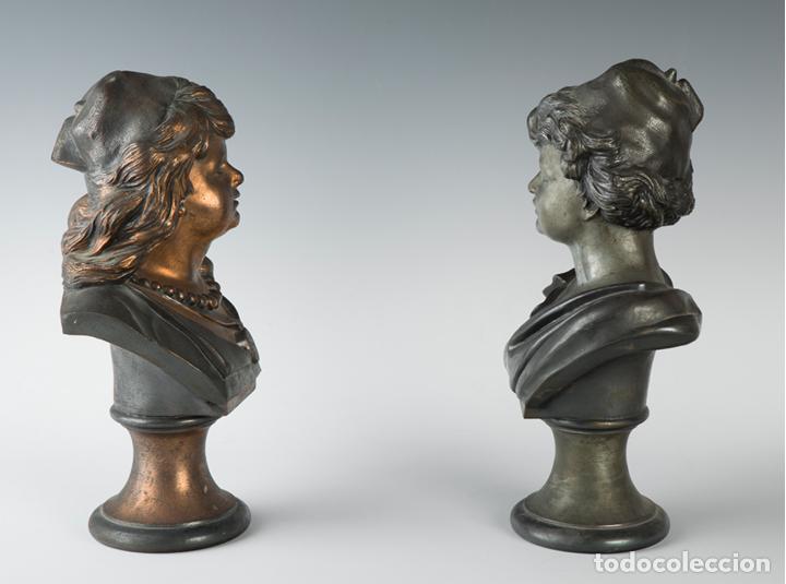 Arte: Pareja de bustos femeninos, finales del siglo XIX – primera mitad del XX. - Foto 2 - 109725771