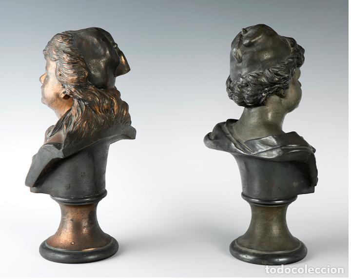 Arte: Pareja de bustos femeninos, finales del siglo XIX – primera mitad del XX. - Foto 3 - 109725771