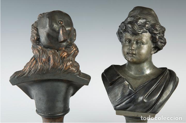 Arte: Pareja de bustos femeninos, finales del siglo XIX – primera mitad del XX. - Foto 4 - 109725771