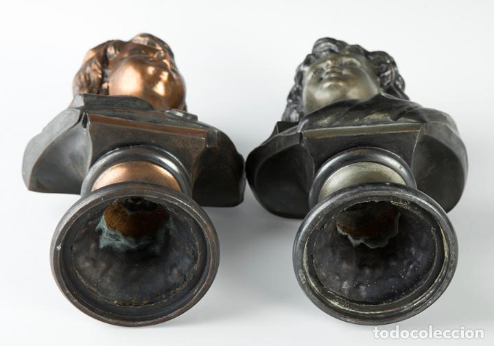 Arte: Pareja de bustos femeninos, finales del siglo XIX – primera mitad del XX. - Foto 5 - 109725771