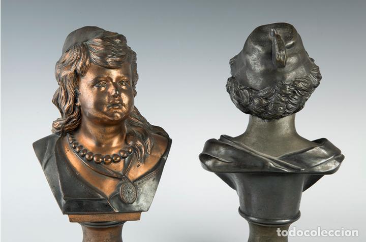 Arte: Pareja de bustos femeninos, finales del siglo XIX – primera mitad del XX. - Foto 6 - 109725771