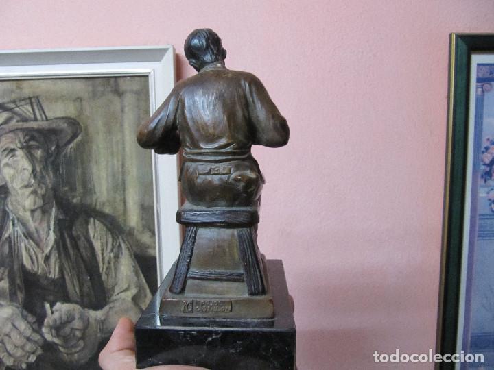 Arte: ESCULTURA DE COLECCION PUJOL CASTILLÓN EN BRONCE-ZAPATERO - Foto 7 - 110070619