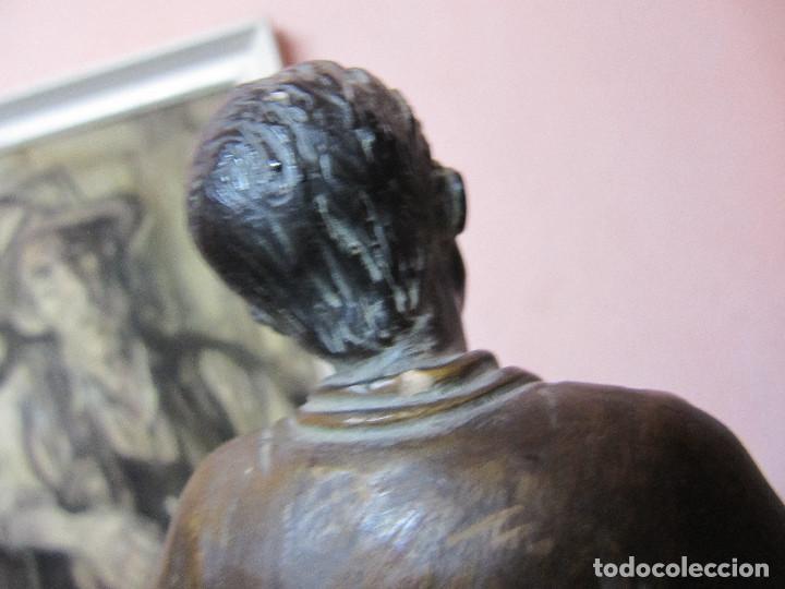 Arte: ESCULTURA DE COLECCION PUJOL CASTILLÓN EN BRONCE-ZAPATERO - Foto 10 - 110070619