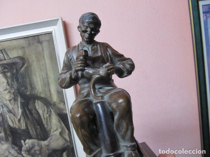 Arte: ESCULTURA DE COLECCION PUJOL CASTILLÓN EN BRONCE-ZAPATERO - Foto 18 - 110070619