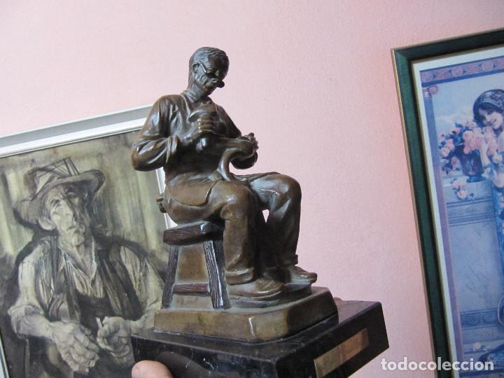 Arte: ESCULTURA DE COLECCION PUJOL CASTILLÓN EN BRONCE-ZAPATERO - Foto 26 - 110070619