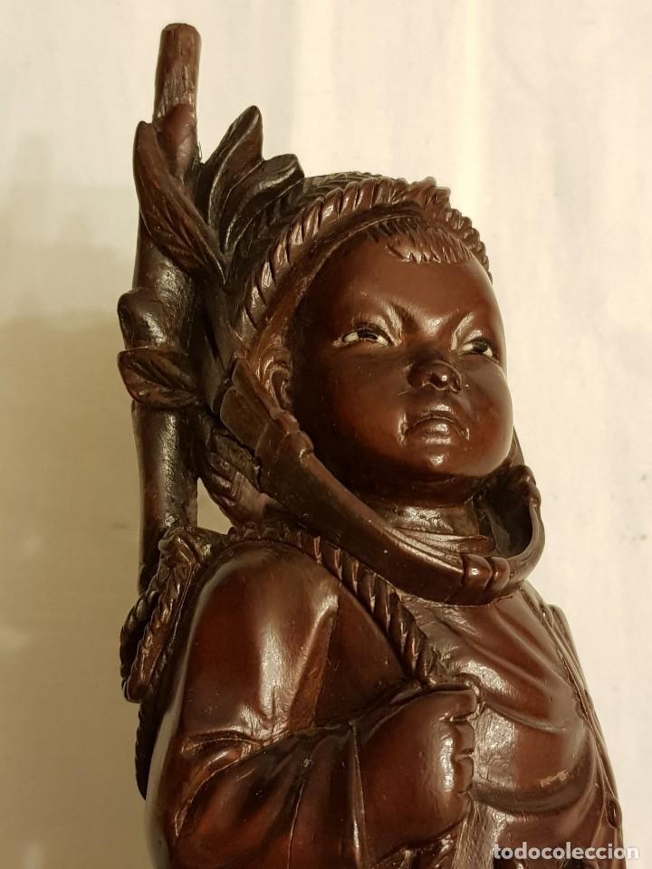 Arte: Talla de madera. Niño oriental - Foto 11 - 110498595