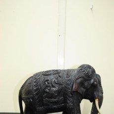 Arte: ANTIGUA ESCULTURA INDIA - MOTIVO ELEFANTE . Lote 110882539