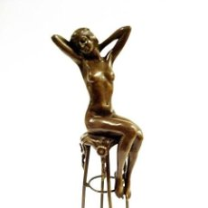 Arte: DIMITRI CHIPARUS (ROMANIA 1886-1947), TRES DAMAS, ESCULTURA EN BRONCE. Lote 111289823