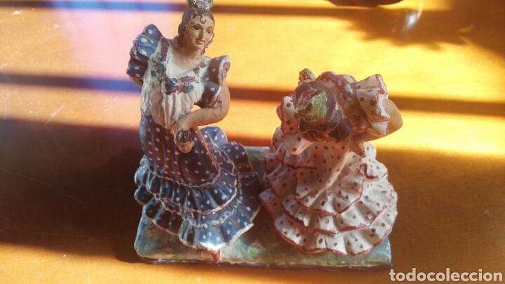 FLAMENCAS EN CERAMICA ANTIGUA DE TRIANA (Arte - Escultura - Piedra)