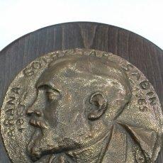 Arte: PLACA SABINO ARANA GOIRI 1865 - 1965 BRONCE RARA PIEZA CENTENARIO PNV EGI PAIS VASCO MEDALLON SABIN. Lote 111373123