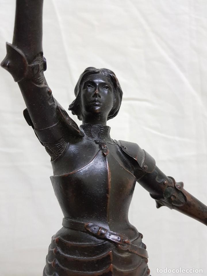 Arte: Bronce de Juana de Arco. Firmado por el Conde de Astanieres. Finales siglo XIX - Foto 4 - 111386903