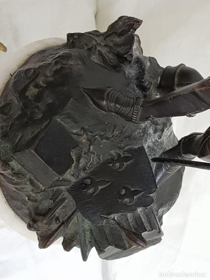 Arte: Bronce de Juana de Arco. Firmado por el Conde de Astanieres. Finales siglo XIX - Foto 6 - 111386903