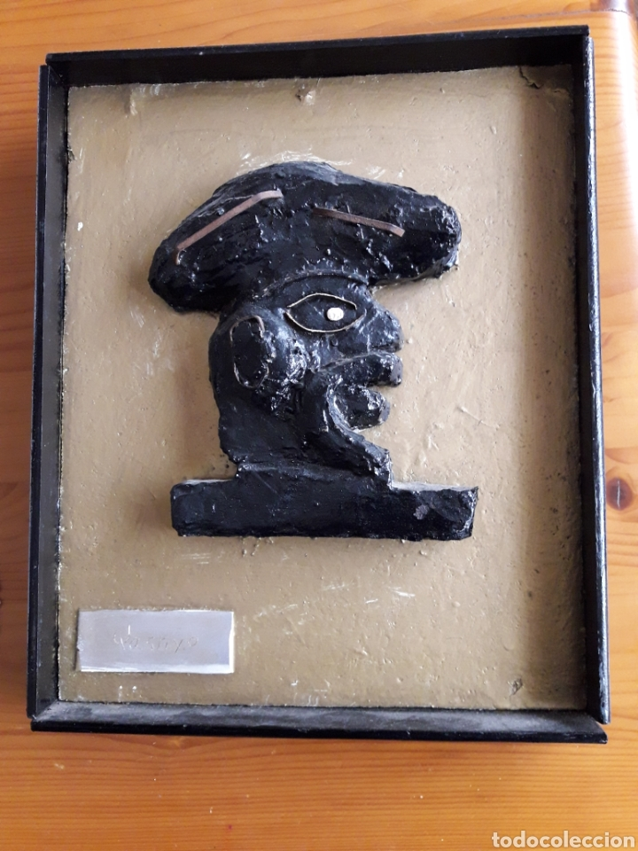 QASTIYO. OBRA ESCULTÓRICA ENMARCADA. (Arte - Escultura - Piedra)