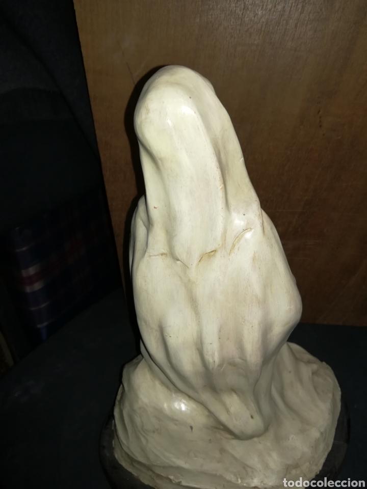 Arte: Virgen de tarracota firmada por, M0RCILLO - Foto 3 - 111619176