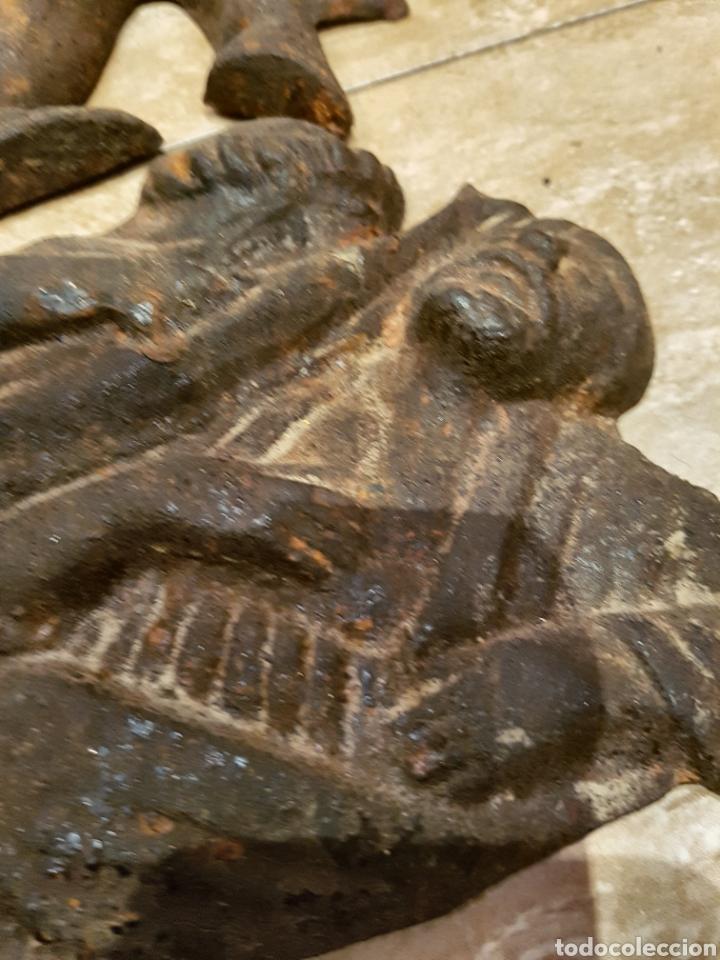 Arte: Importante y muy antiguo San Jorge en hiero fundido, ver fotos. - Foto 4 - 111911534