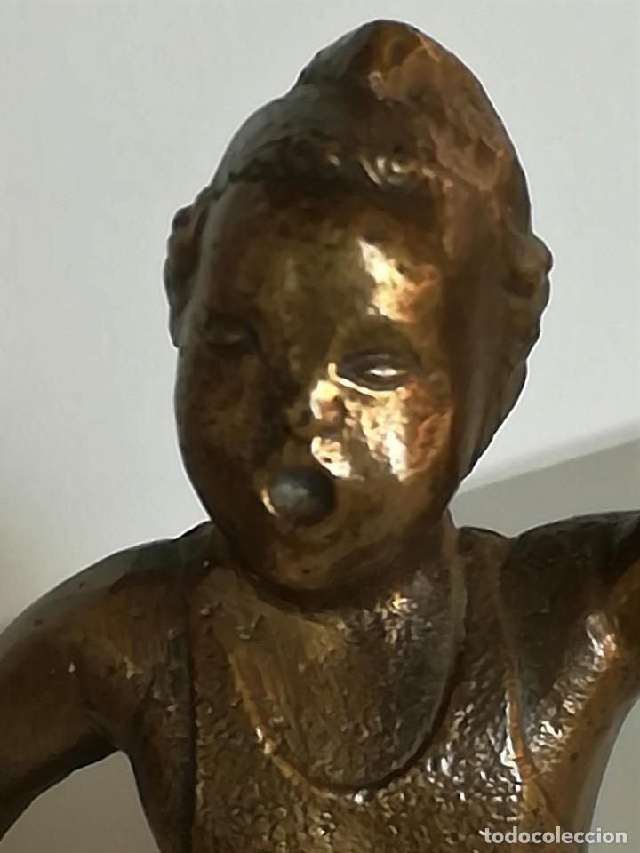 Arte: GUERRA CIVIL ESPAÑOLA,REPUBLICA,ESCULTURA MILICIANO,AÑO 1937 SIGUIENDO EL MODELO DE LOLA ANGLADA - Foto 7 - 111994195
