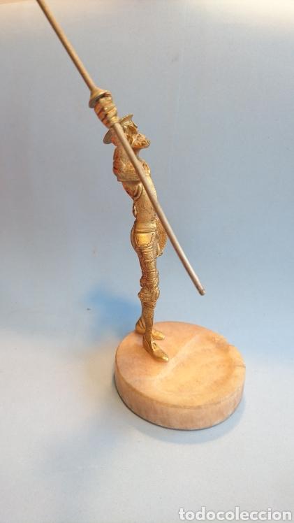 Arte: Figura Don Quijote de la Mancha metal 27 cm. - Foto 4 - 112142280