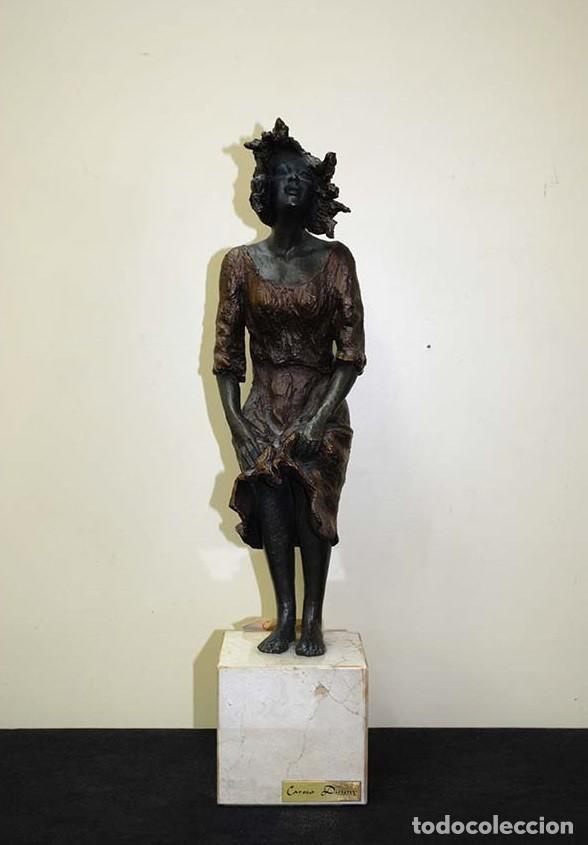 ESCULTURA ANTIGUA DE RESINA CON CERTIFICADO DE AUTENTICIDAD (Arte - Escultura - Resina)