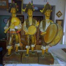 Arte: 3 ESCULTURAS DE MADERA TALLADA Y PINTADA A MANO. AÑOS 30. ESCULTOR: ESCUDERO (EL PADRE).. Lote 112531195
