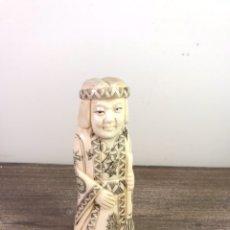 Arte: FIGURA 1 PASTA RESINA- JAPÓN- 10 CM (NO MARFIL). Lote 112737744