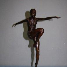 Arte: ESCULTURA EN BRONCE BAILARINA DE 56 CM. Lote 112880579
