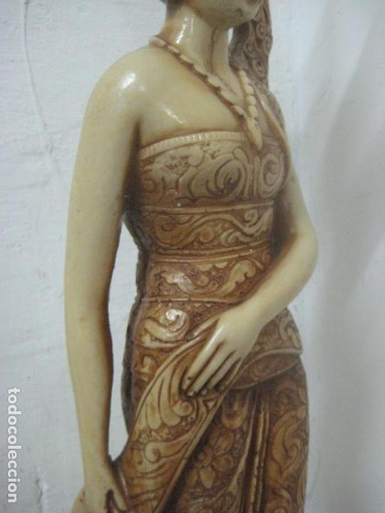 Arte: TREMENDA TALLA THAILANDESA EN MARFILINA, 63 CMS DE ALTA Y 5 KILOS DE PESO, MIL DETALLES,EXPECTACULAR - Foto 6 - 112978851