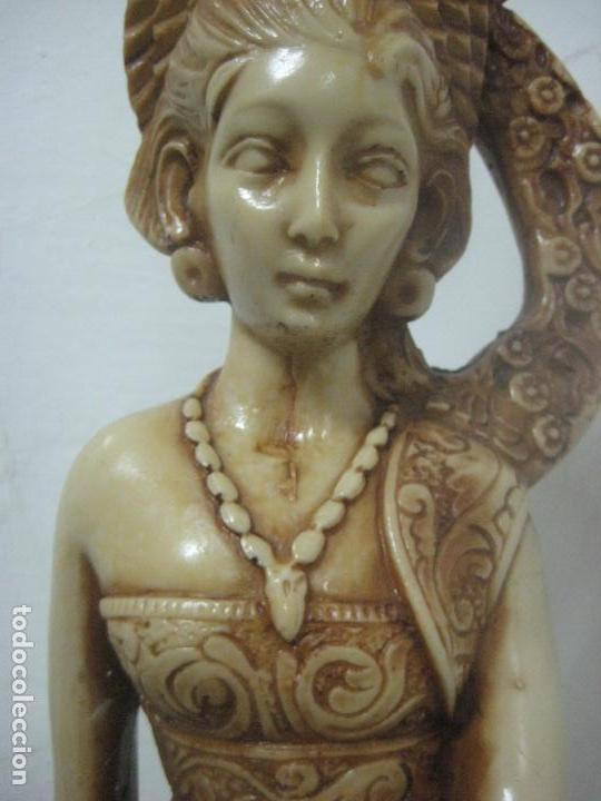Arte: TREMENDA TALLA THAILANDESA EN MARFILINA, 63 CMS DE ALTA Y 5 KILOS DE PESO, MIL DETALLES,EXPECTACULAR - Foto 9 - 112978851