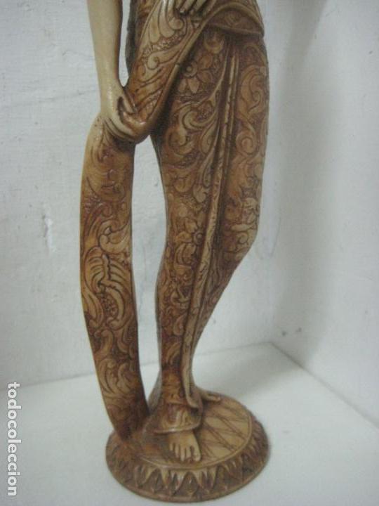Arte: TREMENDA TALLA THAILANDESA EN MARFILINA, 63 CMS DE ALTA Y 5 KILOS DE PESO, MIL DETALLES,EXPECTACULAR - Foto 18 - 112978851