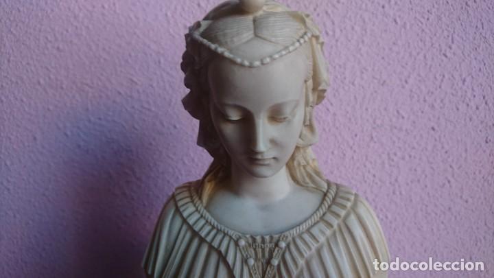ECCULTURA MADONNA RENACENTISTA EN MARMOL RECONSTITUIDO (Arte - Escultura - Alabastro)